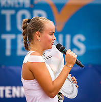 Amstelveen, Netherlands, 1 August 2020, NTC, National Tennis Center, National Tennis Championships,  womens single final: Runner up Bente Spee (NED) at the prizegiving