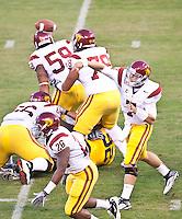 San Francisco, CA - October 13, 2011: USC quarterback Matt Barkley. Cal Bears vs USC at AT&T Park in San Francisco, California. Final score Cal Bears 9, USC 30.