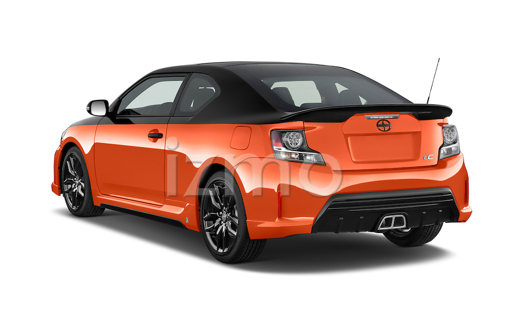 Car pictures of rear three quarter view of a 2015 Scion tC Release Series 9.0 2 Door Coupe Angular Rear