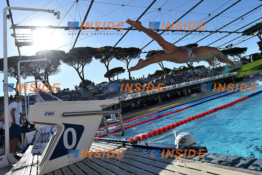 Warm up during the 58th Sette Colli Trophy International Swimming Championships at Foro Italico in Rome, June 26th, 2021.