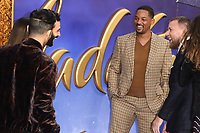 """Marwan Kenzari and Will Smith<br /> arriving for the """"Aladdin"""" premiere at the Odeon Luxe, Leicester Square, London<br /> <br /> ©Ash Knotek  D3500  09/05/2019"""