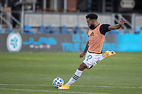 SAN JOSE, CA - SEPTEMBER 16: Eryk Williamson #30 of the Portland Timbers warms up during a game between Portland Timbers and San Jose Earthquakes at Earthquakes Stadium on September 16, 2020 in San Jose, California.
