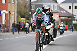 Ide Schelling (NED) Bora-Hansgrohe makes a big effort to escape from the peloton and cross over to the leaders during the 2021 Brabantse Pijl running 201.7km from Leuven to Overijse, Belgium. 14th April 2021.  <br />