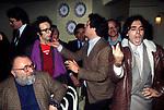 SERGIO LEONE CON ROBERTO BENIGNI, RENATO POZZETTO, LEOPOLDO MASTELLONI  FIRENZE 1980