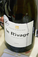 Cuvee Le Rivage Vin de Pays d'Oc. Domaine de Belle Mare. Languedoc. France. Europe. Bottle.