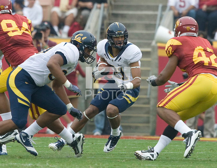 Keenan Allen of California rushes the ball during the game against USC at LA Memorial Coliseum in Los Angeles, California.  USC defeated California, 48-14.