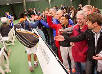 19-01-13, Tennis, Rotterdam, Wildcard for qualification ABNAMROWTT,  Fabian v d Lans ontvangt de felicitaties
