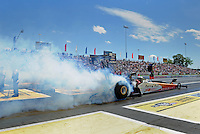 Jun. 2, 2012; Englishtown, NJ, USA: NHRA top fuel dragster driver Clay Millican during qualifying for the Supernationals at Raceway Park. Mandatory Credit: Mark J. Rebilas-