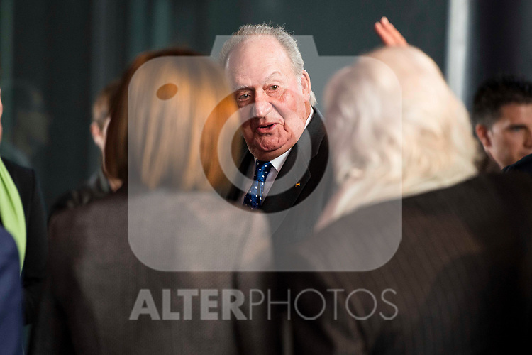 King Juan Carlos attends to the act of imposition of the great cross of the civil order of Alfonso X el Sabio to D. Francisco Luzon Lopez at Reina Sofia Museum in Madrid. March 13, 2017. (ALTERPHOTOS/Borja B.Hojas)