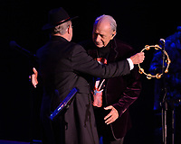FORT LAUDERDALE, FL - OCTOBER 12: Michael Nesmith and Micky Dolenz of The Monkees perform during the Farewell Tour at The Parker on October 12, 2021 in Fort Lauderdale Florida. . Credit: mpi04/MediaPunch