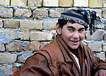 A Roma boy in Backo Gradiske, Serbia.