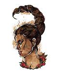 Illustration of Scorpio woman zodiac sign over white background