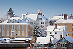 Winter in the historic district of Portsmouth, NH