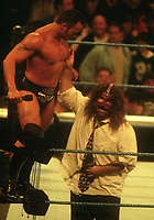Dwayne The Rock Johnson & Mike Foley 1999<br /> Photo By John Barrett/PHOTOlink
