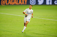 """CARSON, CA - OCTOBER 14: Javier """"Chicharito"""" Hernandez #14 of the Los Angeles Galaxy moves to the ball during a game between San Jose Earthquakes and Los Angeles Galaxy at Dignity Heath Sports Park on October 14, 2020 in Carson, California."""