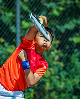 Hilversum, Netherlands, August 7, 2017, National Junior Championships, NJK, Jerry Wang<br /> Photo: Tennisimages/Henk Koster