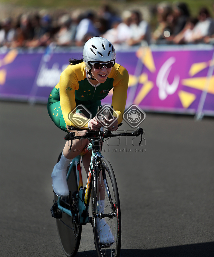 Jayme Paris (AUS),Women's Individual C 1-3 Time Trial.<br /> Cycling Road, Brands Hatch (Wednesday 5th Sept)<br /> Paralympics - Summer / London 2012<br /> London England 29 Aug - 9 Sept <br /> © Sport the library/Joseph Johnson