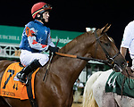 September 18, 2021: #7 Red Knobs in the post parade G3 Iroquois S. at Churchill Downs in Louisville, Kentucky on September 18, 2021. Jessica Morgan/Eclipse Sportswire.