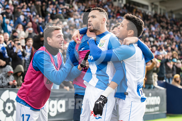 CD Leganes's Youssef En-Nesyri celebrates goal during La Liga match 2019/2020 round 20<br /> December 22, 2019. <br /> (ALTERPHOTOS/David Jar)