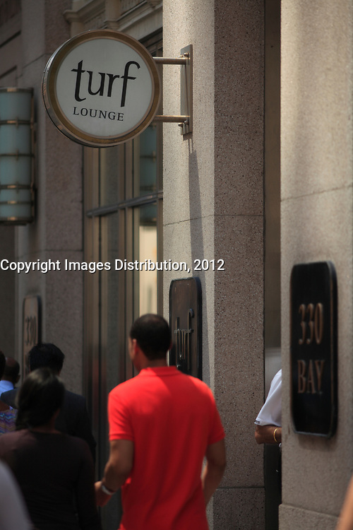 Toronto (ON) CANADA - July 2012 - Bay Street Financial District
