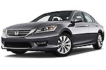 Low aggressive front three quarter view of a 2013 Honda Accord EX-L V6 Sedan