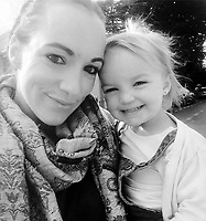 Pictured: Kiara Moore (R) with her mum Kim Rowlands. (IMAGE TAKEN FROM PARENTS OPEN SOCIAL MEDIA PAGE)<br /> Re: The funeral of two year old Kiara Moore, who died after being recovered from a silver Mini car found in river Teifi in Cardigan will be held today (Tue 27 Mar 2018) at Parc Gwyn Crematorium, Narberth, west Wales.<br /> Kiara was taken at the University Hospital of Wales in Cardiff after being rescued but was pronounced dead.<br /> It is believed the car she was in, rolled down a slipway while her mother got out momentarily to get cash out of the family business premises.<br /> Her parents Jet Moore and Kim Rowlands have expressed their grief on social media.