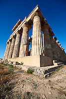 Greek Dorik Temple ruins of Temple F at Selinunte, Sicily photography, pictures, photos, images & fotos. 35 Greek Dorik Temple columns of the ruins of the Temple of Hera, Temple E, Selinunte, Sicily