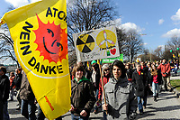 GERMANY Hamburg 2011 march 26 , large rally and meeting at townhall market against nuclear power after accident Fukushima in Japan - Bürgerenergie, Buergerenergie