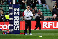 Stuart Lancaster, England Team Manager, looks relaxed before the RBS 6 Nations match between England and Scotland at Twickenham on Saturday 02 February 2013 (Photo by Rob Munro)