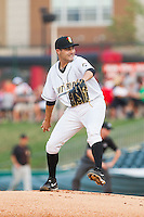 Bowling Green Hot Rods starting pitcher D.J. Slaton (22) in action against the Quad Cities River Bandits at Bowling Green Ballpark on July 26, 2014 in Bowling Green, Kentucky.  The River Bandits defeated the Hot Rods 9-2.  (Brian Westerholt/Four Seam Images)