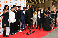 WRITER LOUNG UNG, RITHY PANH, ANGELINA JOLIE WITH HER CHILDREN MADDOX, PAX, VIVIENNE, KNOX, SHILOH AND ZAHARA - RED CARPET OF THE FILM 'FIRST THEY KILLED MY FATHER' - 42ND TORONTO INTERNATIONAL FILM FESTIVAL 2017