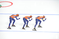 OLYMPIC GAMES: PYEONGCHANG: 19-02-2018, Gangneung Oval, Long Track, Team Pursuit Ladies, Team Netherlands, ©photo Martin de Jong