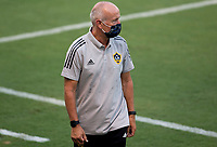 LOS ANGELES, CA - AUGUST 22: Dominic Kinnear of the Los Angeles Galaxy during a game between Los Angeles Galaxy and Los Angeles FC at Banc of California Stadium on August 22, 2020 in Los Angeles, California.