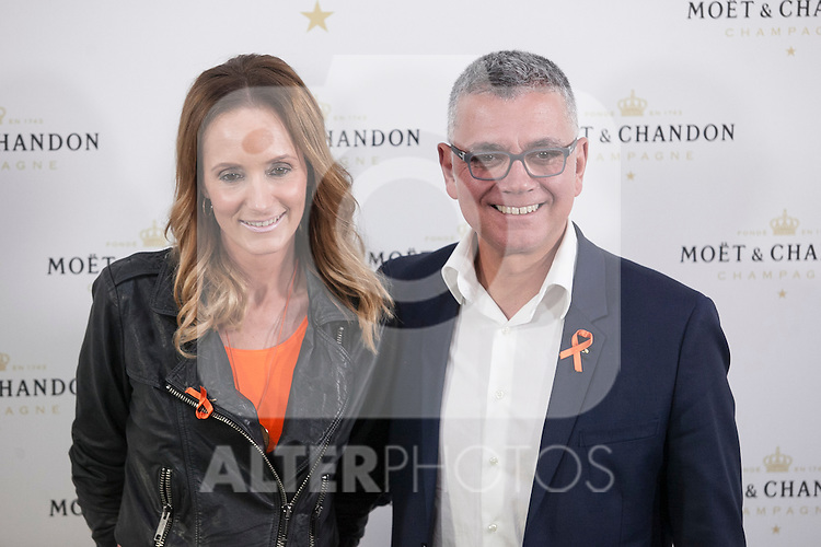 Juan Ramon Lucas poses during Moet & Chandon event in Madrid, Spain. May 05, 2015. (ALTERPHOTOS/Victor Blanco)