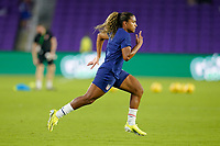 ORLANDO CITY, FL - FEBRUARY 18: Catarina Macario #11 of the United States warming up during a game between Canada and USWNT at Exploria Stadium on February 18, 2021 in Orlando City, Florida.