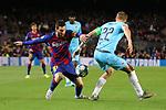 UEFA Champions League 2019/2020.<br /> Matchday 4.<br /> FC Barcelona vs SK Slavia Praha: 0-0.<br /> Lionel Messi vs Tomas Soucek.