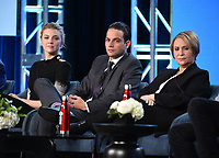 """PASADENA, CA - JANUARY 13: Cast Natalie Dormer, Daniel Zovatto, and Adriana Barraza attend the panel for """"Penny Dreadful: City of Angels"""" during the Showtime presentation at the 2020 TCA Winter Press Tour at the Langham Huntington on January 13, 2020 in Pasadena, California. (Photo by Frank Micelotta/PictureGroup)"""