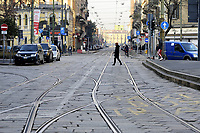 - Milano 02/02/2020 - blocco totale del traffico per il superamento dei limiti consentiti  di inquinamento, smog e polveri sottili<br /> <br /> - Milan 02/02/2020 - total blockade of traffic for exceeding the permitted limits of pollution, smog and particulate matter