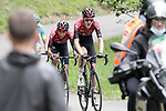 Pavel Sivakov (RUS) leads team mate Egan Bernal (COL) Team Ineos with 1.5km to the finish during Stage 3 of the Route d'Occitanie 2020, running 163.5km from Saint-Gaudens to Col de Beyrède, France. 3rd August 2020. <br /> Picture: Colin Flockton | Cyclefile<br /> <br /> All photos usage must carry mandatory copyright credit (© Cyclefile | Colin Flockton)