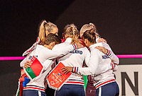 The Hague, The Netherlands, Februari 7, 2020,    Sportcampus, FedCup  Netherlands -  Balarus, Dutch team gattering together before the match<br /> Photo: Tennisimages/Henk Koster