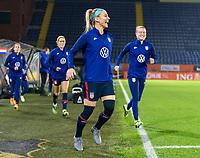 BREDA, NETHERLANDS - NOVEMBER 27: Julie Ertz #8 of the USWNT steps onto the field before a game between Netherlands and USWNT at Rat Verlegh Stadion on November 27, 2020 in Breda, Netherlands.