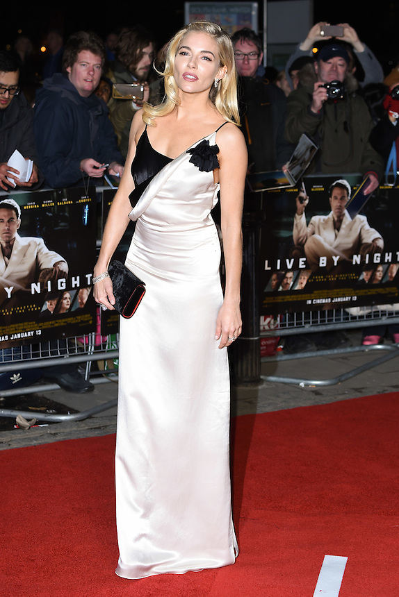 "Sienna Miller<br /> at the ""Live by Night"" premiere at BFI South Bank, London.<br /> <br /> <br /> ©Ash Knotek  D3217  11/01/2017"