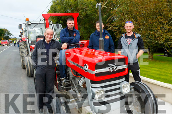 Asdee Vintage Tractor Run: Taking part in the Adee Vintage Tractor run on Sunday last were Thomas Nash, Rory Flahive, Aiden Parkinson & Mattie O'Donoghue.