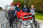 Asdee Vintage Tractor Run: Taking part in the Adee Vintage Tractor run on Sunday last were Thomas Nash, Rory Flahive, Aiden Parkinson & Mattie O'Donoghue.