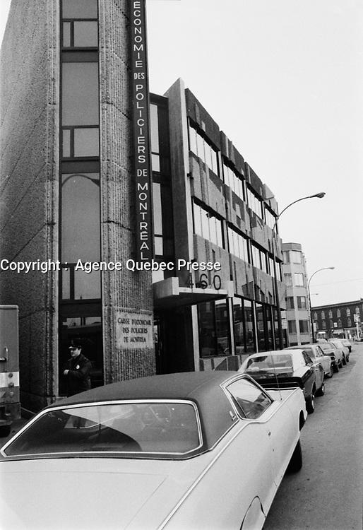 Caisse d'economie des Policiers de Montreal<br /> ,15 mars 1973<br /> <br /> <br /> PHOTO :   Agence Quebec Presse - Alain Renaud