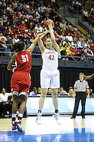 BERKELEY, CA - MARCH 30: Sarah Boothe takes a shot during Stanford's 84-66 win against the Ohio State Buckeyes on March 28, 2009 at Haas Pavilion in Berkeley, California.