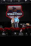 Brayden Bruton during the Break Away and Tie Down Roping Back Number presentation at the Junior World Finals. Photo by Andy Watson. Written permission must be obtained to use this photo in any manner.