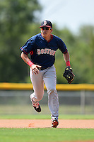 GCL Red Sox shortstop Hector Lorenzana (18) during practice before a game against the GCL Rays on June 24, 2014 at Charlotte Sports Park in Port Charlotte, Florida.  GCL Red Sox defeated the GCL Rays 5-3.  (Mike Janes/Four Seam Images)