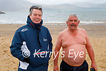 James Mahoney and Sean Lyons ready to hit the water in Fenit on Saturday morning.