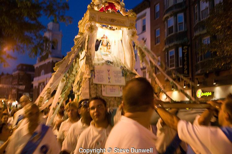 Festival of Madonna del Soccorso di Sciacca, North End, Boston, MA Hanover St.